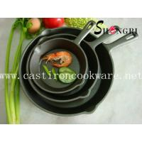 Cheap cast iron frying pan with short handle for sale