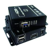 China 4K resolution  HDMI Fiber Optic Extender with KVM for keyboard and mouse on sale