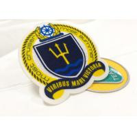 Quality Heat Cut Twill Fabric Custom Clothing Patches Cloth Embroidered Badges wholesale