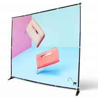 Quality Digital Printing Adjustable Banner Stands Step Repeat Backdrop Telescopic wholesale