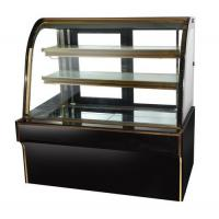 Quality Wholesale single curved glass cake refrigerated showcase counter top chiller case cake display fridge refrigerator for s wholesale