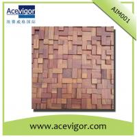 Quality antique wood mosaic tiles for indoor wall/background decoration wholesale