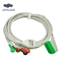 China ECG Patient cable Nihon Kohden (13pin) 5 lead ECG Cable with leadwires snap clip AHA/IEC monitor connector cable on sale