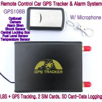 Quality GPS106B Car Safety Vehicle GPS Tracker W/ Armed by remote-controller & geo-fencing Alarm wholesale