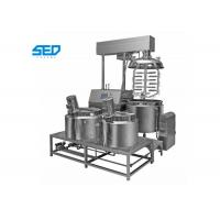 Quality 300L Ointment Manufacturing Machine , Pharmaceutical Use Vacuum Emulsifying Mixer wholesale