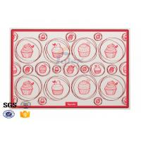 Buy cheap Custom Printing Pizza Non Stick Silicone Baking Mat Safety , Silicone Cookie Sheet product