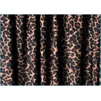 Quality Quick Dry Leotard Leopard Printed Spandex Fabric 220gsm Cool Handfeel wholesale