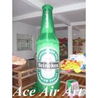 Quality custom giant 3m high advertising inflatable beer bottle balloon with logo for sale wholesale