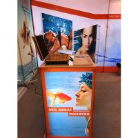 Quality Aluminum SEG Counter pop up banner stands , pop up exhibition stands wholesale