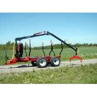 Quality Log Trailer with Crane /Forestry Machine Hydraulic Crane with Wood Grabs wholesale