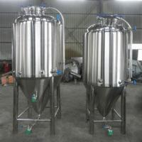 China 1000L conical fermentation tank, coupling with side manhole on sale