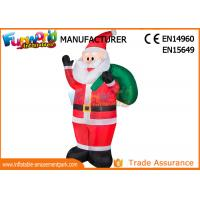 China Outdoor Advertising Inflatables Santa Christmas Decoration Size Customized on sale