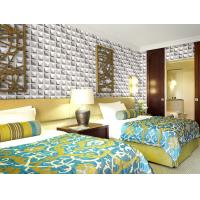 Cheap Colorful Graffiti Fiber 3D Wall Coverings Interior Wall Paneling 3D Tiles for KTV , Club , Hotel for sale