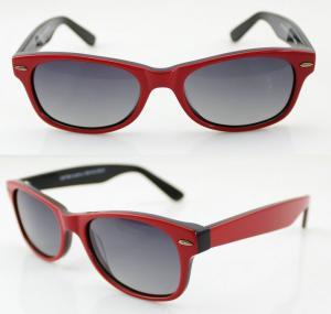 Quality Fashionable Red Ladies Sunglasses Protect Eyes Under Sunshine wholesale