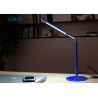 Cheap Tempered Toughened Glass Alloy LED Desk Lamp Dimmable and Foldable USB Charging Port Long Lifespan for sale