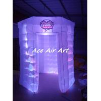 Cheap custom lighting circle booth tent white octagon inflatable photo booth for advertising for sale
