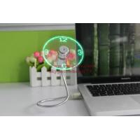 Quality New Durable Adjustable USB Gadget Mini Flexible LED Light USB Fan Time Clock Desktop Clock Cool Gadget Time Display wholesale
