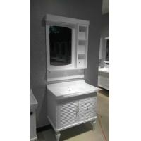 Quality Floor Standing Embossing PVC Bathroom Cabinet / Bathroom Decoration Furniture wholesale