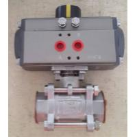 China Stainless Steel Sanitary Ball Valve with 90° Pneumatic Actuator on sale