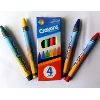 Quality 4colors wax crayon with promotion packing ;color box;non toxic;safety for kids wholesale