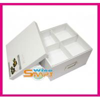 China Rigid Paper Board Varnishing Storage Box / Paper Gift Packaging Boxes for Clothing, Cosmetic PB2012316 on sale