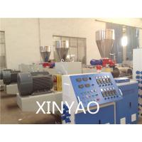 Quality SJZ80 Conical double screw PVC Pipe Extrusion Line , PVC twin screw extruder, wholesale