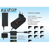 Cheap 19V 3.42A Mini 65w Universal Laptop Power Adapter With Usb QC2.0 QC3.0 Type-C Port for sale