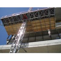 Quality 1 x 4 Kw Motor 2.4m Width Mast Climbing Work Platforms Facades for Office Building wholesale