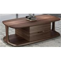 Cheap 2017 New Walnut Wood Case Good Furniture Design Living room Coffee table& Tea table with Storage side Drawers for sale