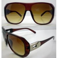 Quality Modern Lightweight Brown Plastic Frame Sunglasses For Women wholesale