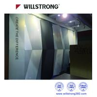Quality Exterior PVDF 3D Wall Cladding ACP Aluminum Panel Curtain Wall In Chameleon Color wholesale