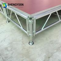 China 2019 Factory Wooden Stage For Church Mechanical Stage Aluminum Table High quality anti-slip chorus portable stage on sale