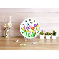 Quality Flower Design Plaster Painting Arts And Crafts Toys With Real Clock Function wholesale
