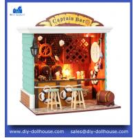 Quality DIY Wooden Dollhouse Miniature Model House Educational Toy Craft Puzzles C004 wholesale