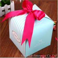 Cheap Wholesale paper box with pink Ribbon Cake box for sale