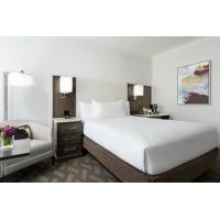 Cheap Hotel Room Standard Large Bedroom Leather Padded Headboard Bed and Big TV for sale