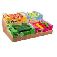China Corrugated Cardboard Fruit Packaging Boxes For Supermarket Free Sample on sale