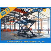 Buy cheap Blue Color Hydraulic Scissor Car Lift , Garage Car Elevator For Basement from wholesalers