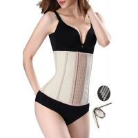 Quality Inner Cozy Womens Waist Cincher 9 Steel Boned Skin Breathable More Size wholesale
