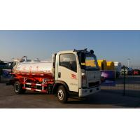 China White 8 Cbm 266HP Sewage Removal Truck , HW76 Cab Sewage Suction Tanker Truck on sale