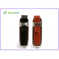 China Personalized Leather USB Flash Drive with Customized Silk-screen Logo on sale