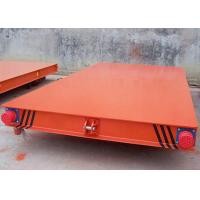China Stainless Steel Electric Flat Car For Industrial Filed Transporting Heavy Cargoes on sale
