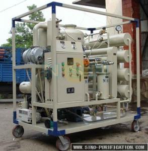 Quality High Vacuum Transformer Oil Purifier unit with Decompression Separation,Precise Filtration wholesale