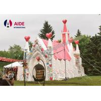 Quality Pvc Marry Church Shape Blow Up Tents Large , Giant Inflatable Tent For Outdoor Wedding wholesale