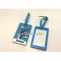 Quality Blank pvc luggage tags custom logo image words numbers can be added wholesale
