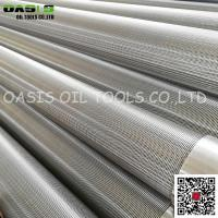 Quality OASIS Manufacturer stainless steel continuous slot johnson screens wholesale