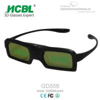 Quality DLP Link Universal Active Shutter 3D Glasses With Rechargable Battery / Logo Print wholesale