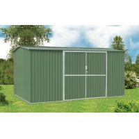 China 10x10 Galvanised Steel Metal Garden Shed For Tools Storage With Double Swing Door on sale