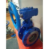 Quality Stainless Steel Seat Worm Gear Flanged end Eccentric Butterfly Valve DN100 wholesale