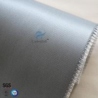 China Fireproof 590g 0.5mm Silicone Coated Fiberglass Fabric for fire blanket on sale